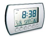 Mirror LCD alarm clock