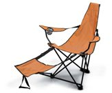 Beach armchair with metal frame