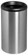 Midi Bin with Swivel Funnel Rim Lid - Silver