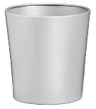 Tapered Waste Paper Bin, Solid - Silver