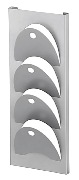 Wall Mounted, D_Shaped Magazine Holder - Silver