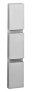 Segment multiple wall mounted brouchure holder, Silver