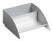 Modern Business Card Holder - Silver