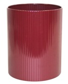 Waste Paper Bin 300mm High (without Flip-Top Lid) - Burgandy