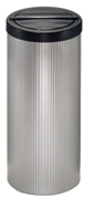 Litter Bin 600mm High, No Cut Out (with Flip-Top Lid) - Silver