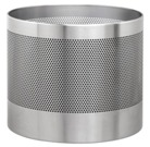Jumbo Planter, Perforated, 55cm - Stainless Steel