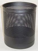 Waste Paper Basket, Heavy Duty, Perforated - Black