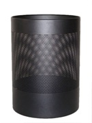 Wide Litter Bin, No Lid, Perforated - Black