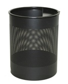 Jumbo Bin Perforated with One Ashtray - Black