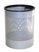 Jumbo Bin Perforated with One Ashtray - Silver