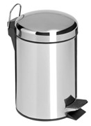 5L Pedal Polished Bins - Stainless Steel