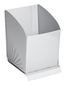 Spectra Waste Paper Bin, 300mm High - Silver