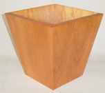 Wooden Waste Paper Bin, Tapered - Cherry