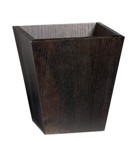 Wooden Waste Paper Bin, Tapered - Imbuia