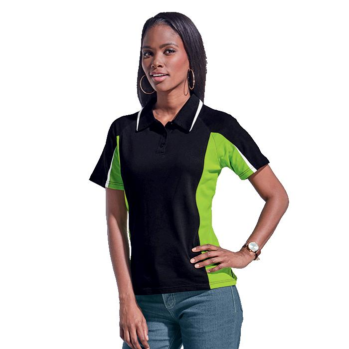 Barron Ladies Nero Golfer - Avail in: Black/Lime/White, Navy/Gre