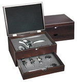 10-in-1 Executive Wine Set Cherry Wood