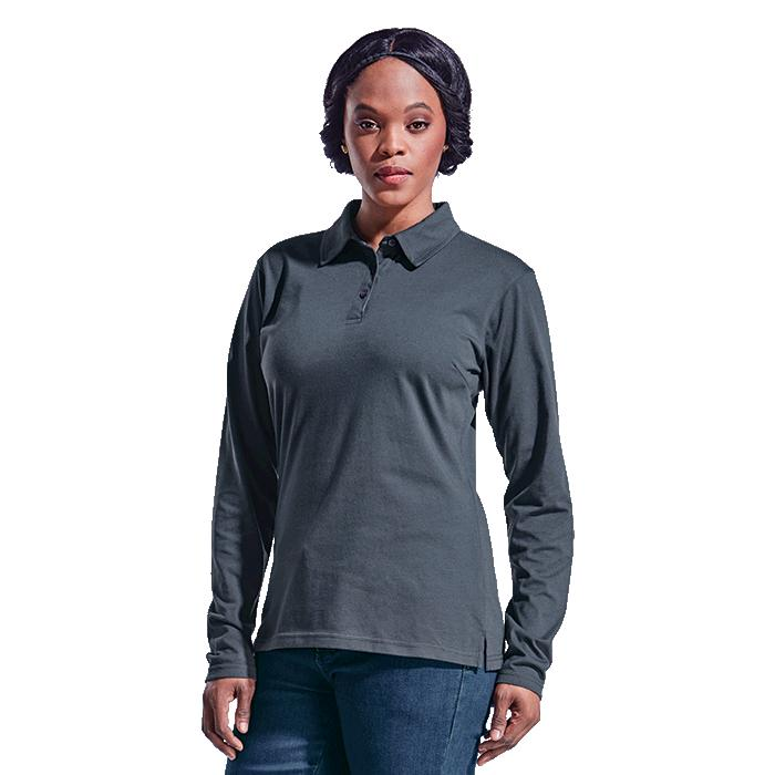 Barron Ladies Caprice Long Sleeve Golfer - Avail in: Black, Char