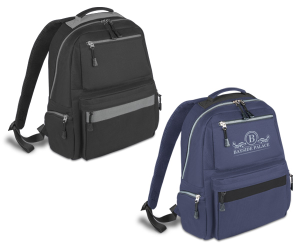 Langham Backpack - Avail in: Black/Grey or Navy/Black
