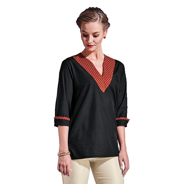 Barron Ladies Tshepiso Blouse - Avail in: Black/Red