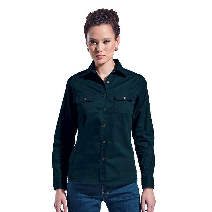 Barron Ladies Bush Shirt Long Sleeve - Avail in: Navy or Stone
