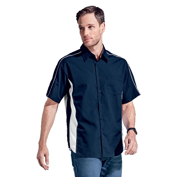 Barron Mens Seattle Lounge Shirt - Avail in: Black/Grey, Navy/Wh