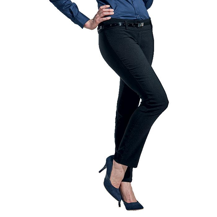 Barron Ladies Tailor Stretch Pants - Avail in: Black or Navy