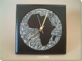 Ndebele clock - Square  - African Theme