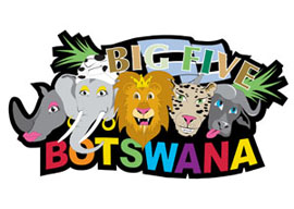 Botswana Big5 International Magnet - Min order 50 units.