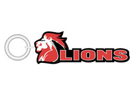 Lions KeyRing Small Rugby Keyrings - Min order 50 units.