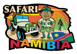 Namibia Safari  International Magnet - Min order 50 units.