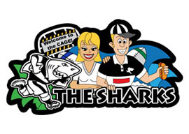 Sharks Fanatics Rugby Keyrings - Min order 50 units.