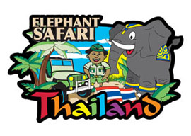 Elephant Family International Magnet - Min order 50 units.