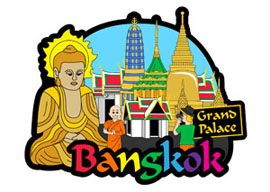 Bangkok Day International Magnet - Min order 50 units.