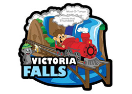 Victoria Falls International Magnet - Min order 50 units.