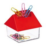 container with 15 clips  - Available in: Blue , Red , White