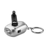 dynamo and solar torch keyring - Available in: Matt Silver