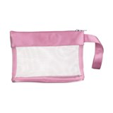 Mesh cosmetic bag  - Available in: Black , Blue , Baby Pink , Ma