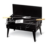 Foldable BBQ with tools - Available in: Black