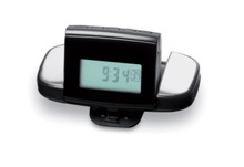 Pedometer in ABS with belt clip. It includes 2 finger sensor to