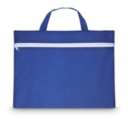 Non-woven document bag with handle and white zipper. 80gr/m2.