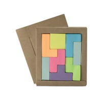 Puzzle composed of 8 pieces of 100 neon paper sticky notes prese