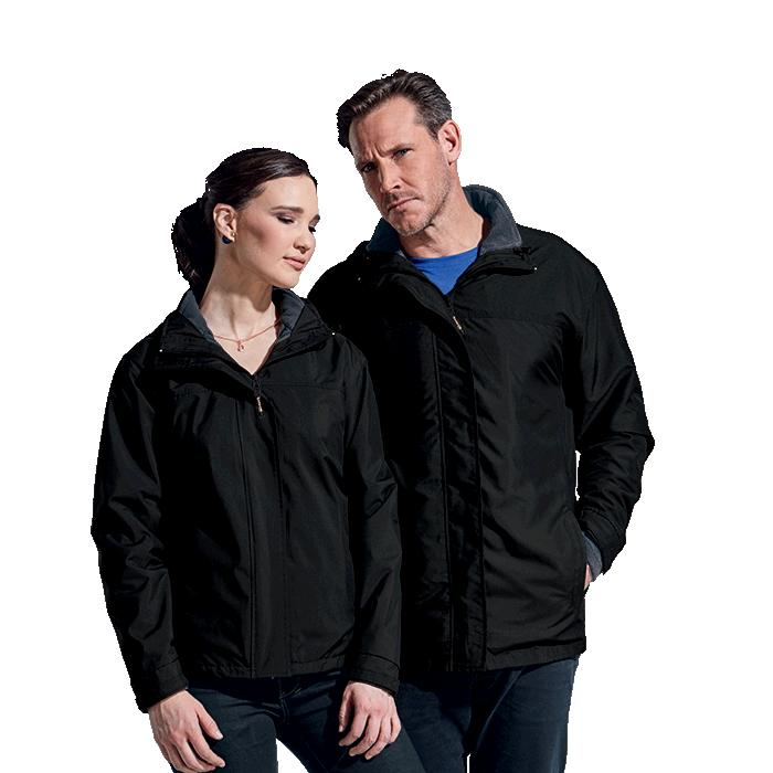 Barron Mens Nashville 3-in-1 Jacket - Avail in: Black/Charcoal o