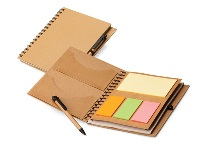 A5 Eco Notebook with sticky notes & Pen