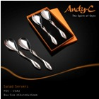 Andy C Pod Chrome Salad Servers