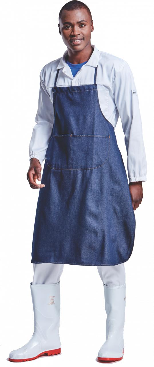 Chef Apron Full Bib Denim Blue