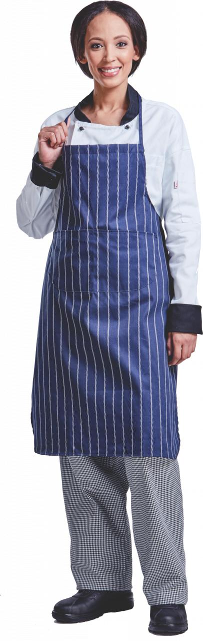 Apron Full Butcher Navy/Stripe