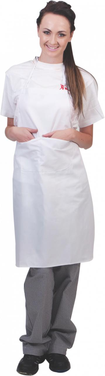 Chef Apron Poly Cotton Chef Bib White