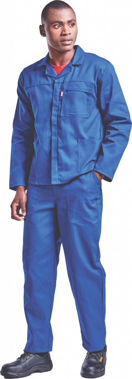 Conti Suit Poly Cotton Red Label Royal Blue. Sizes 34 - 60