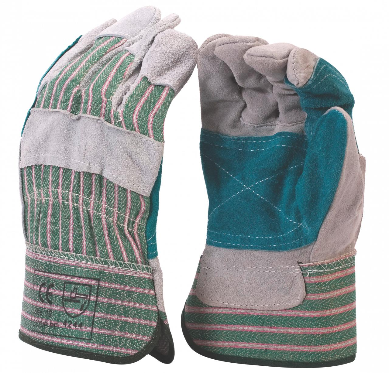 Leather Glove Conti Suittripe Reinforce Green