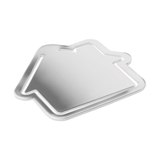Paper clip house shape -Available in: shiny Silver